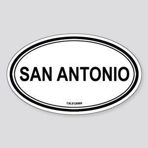 San Antonio oval Oval Sticker