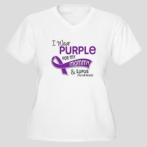 I Wear Purple 42 Lupus Women's Plus Size V-Neck T-