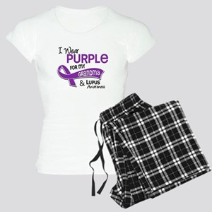 I Wear Purple 42 Lupus Women's Light Pajamas