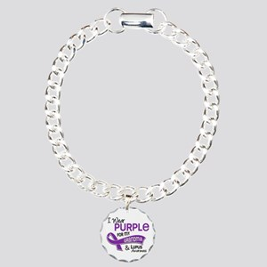 I Wear Purple 42 Lupus Charm Bracelet, One Charm