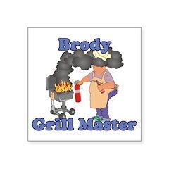 Grill Master Brody Square Sticker 3