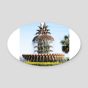 Charleston SC Waterfront Park Oval Car Magnet