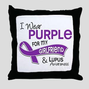 I Wear Purple 42 Lupus Throw Pillow