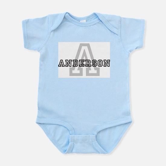 Anderson (Big Letter) Infant Creeper