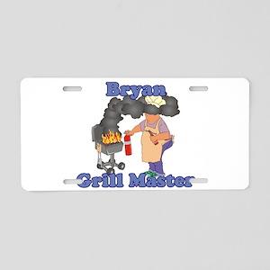 Grill Master Bryan Aluminum License Plate