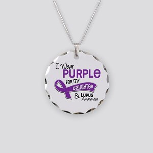 I Wear Purple 42 Lupus Necklace Circle Charm