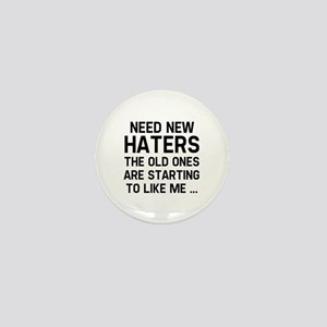 Need New Haters Mini Button