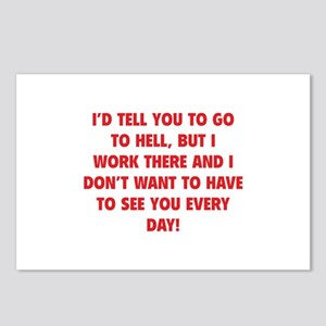 Go To Hell Postcards (Package of 8)