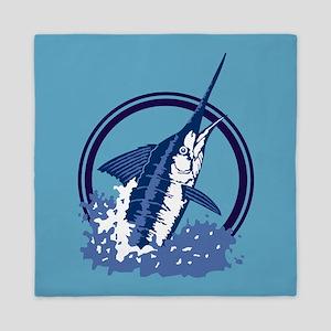 Blue Marlin Queen Duvet