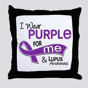 I Wear Purple 42 Lupus Throw Pillow