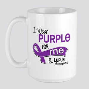 I Wear Purple 42 Lupus Large Mug