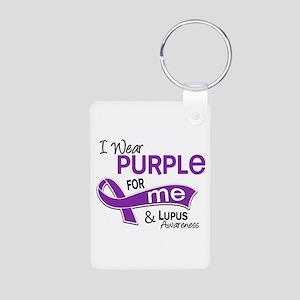 I Wear Purple 42 Lupus Aluminum Photo Keychain