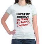 Im flexing and i know it Jr. Ringer T-Shirt