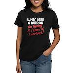 Im flexing and i know it Women's Dark T-Shirt