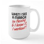 Im flexing and i know it Large Mug