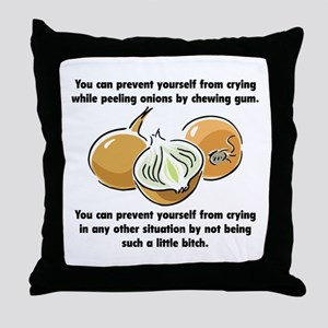 Funny Onions Saying Throw Pillow
