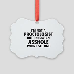 Proctologist Picture Ornament