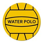 Water Polo Round Car Magnet