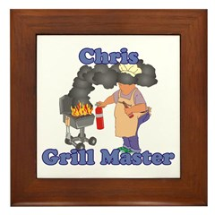 Grill Master Chris Framed Tile