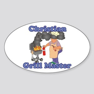 Grill Master Christian Sticker (Oval)