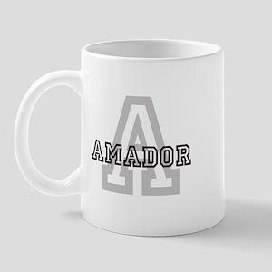 Amador (Big Letter) Mug