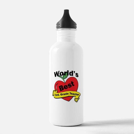 Cool 3rd grade teacher Water Bottle