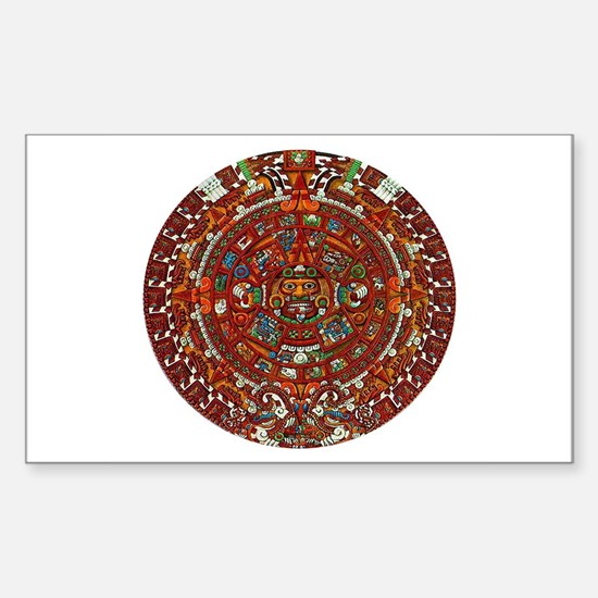 Aztec Calendar Rectangle Decal