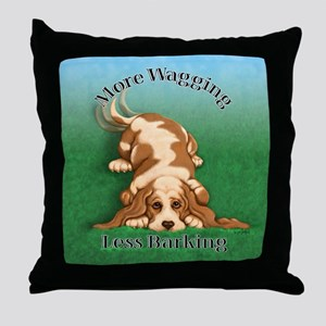 More Wagging Throw Pillow