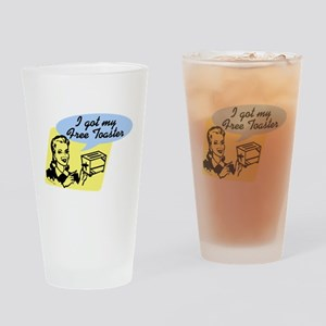 Free Toaster drk Drinking Glass