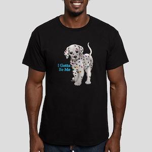 I Gotta Be Me dalmatian Men's Fitted T-Shirt (dark