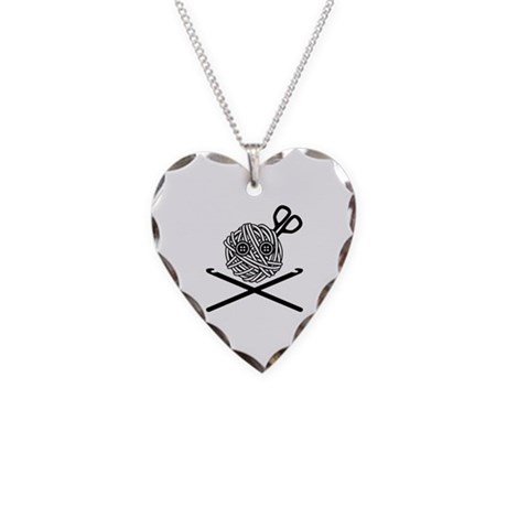 Pirate Crochet Necklace Heart Charm