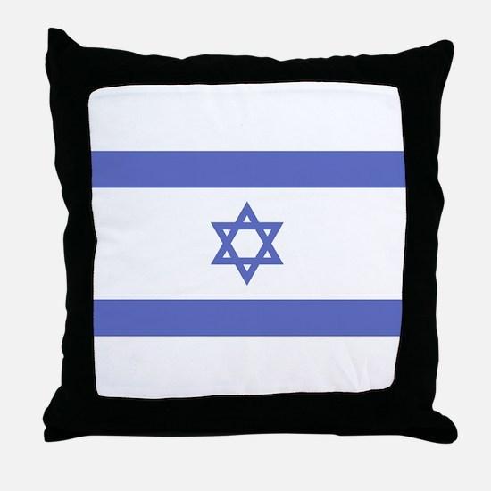 Israeli Flag Throw Pillow