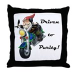 Driven to Purity Throw Pillow