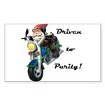 Driven to Purity Rectangle Sticker