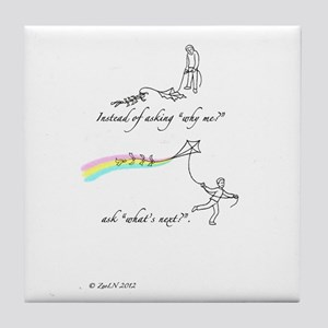 Affirmative: Kite flying Tile Coaster