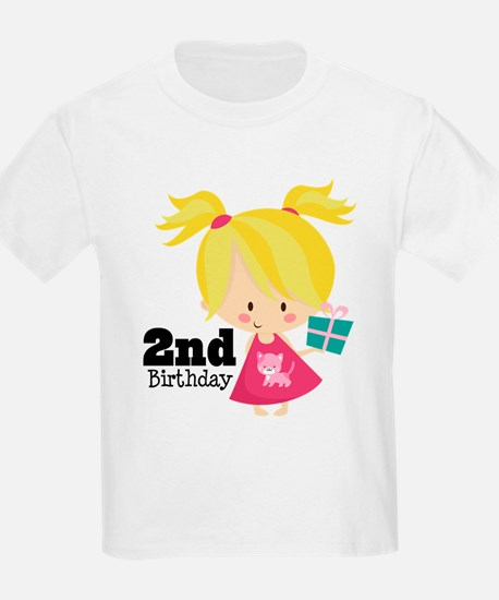 2nd Birthday Party Girl T-Shirt