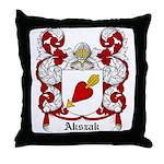 Akszak Coat of Arms Throw Pillow