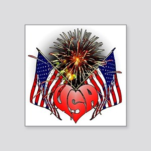 "Celebrate America 3 Square Sticker 3"" x 3"""
