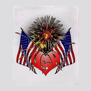 Celebrate America 3 Throw Blanket