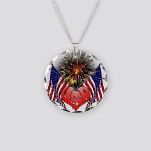 Celebrate America 3 Necklace Circle Charm