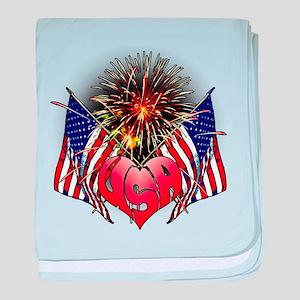 Celebrate America 3 baby blanket