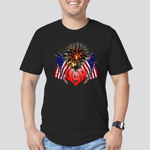 Celebrate America 3 Men's Fitted T-Shirt (dark)