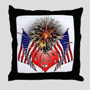 Celebrate America 3 Throw Pillow