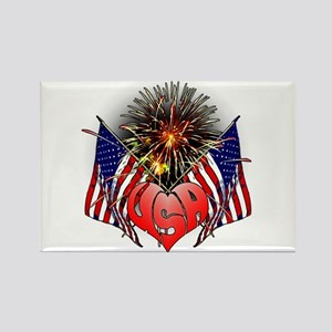 Celebrate America 3 Rectangle Magnet