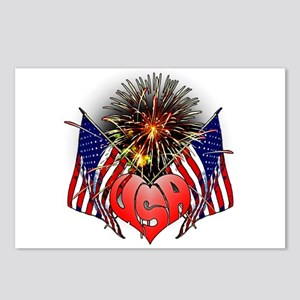 Celebrate America 3 Postcards (Package of 8)