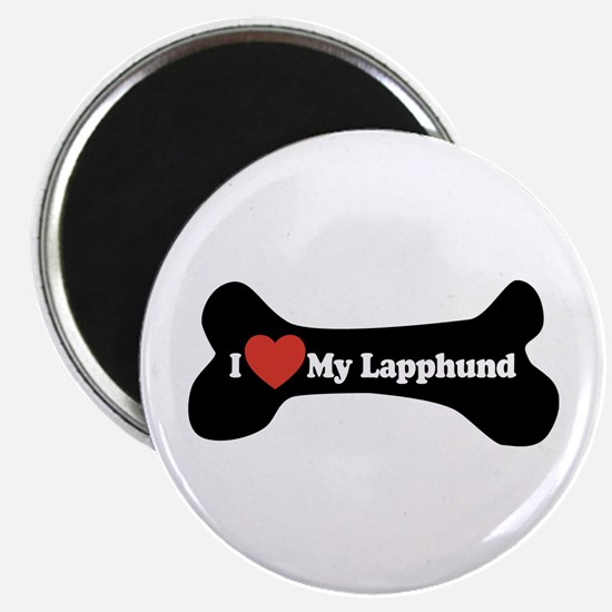 I Love My Lapphund - Dog Bone Magnet