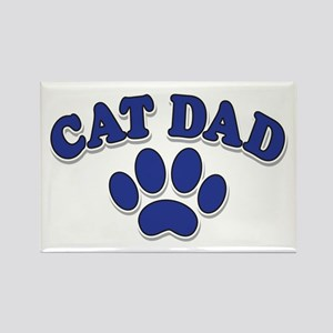 Cat Dad/Father's Day Rectangle Magnet