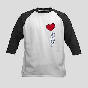 Clingy Samoyed Kids Baseball Jersey