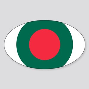 Bangladesh Roundel Sticker (Oval)
