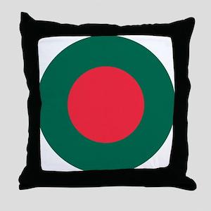 Bangladesh Roundel Throw Pillow